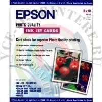"""Фотобумага Epson Photo Quality Ink Jet Paper 10""""x8"""", 185г/м2, 30 листов"""