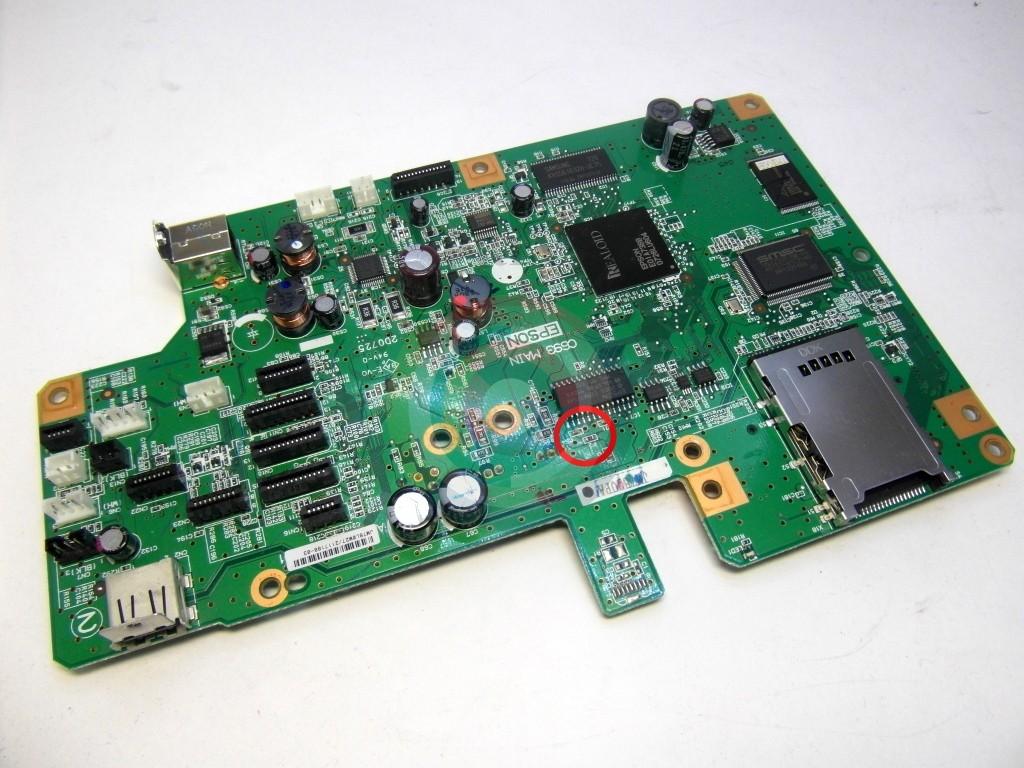 Предохранитель F2 на плате Epson RX610