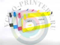 ПЗК (Перезаправляемый картридж) для HP CN049AE 950 951 для OfficeJet Pro 8100 / 8600 с чипом Вид  1
