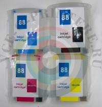 ПЗК (Перезаправляемый картридж) для плоттера HP OfficeJet k550 / k8600 с авточипом