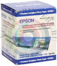 Фотобумага Epson Premium Semigloss Photo Paper 100mm*8m 251г/м3 Рулон