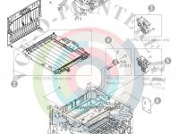 Привод реверса RM1-6423-000CN для HP LaserJet P2055dn/ P2035n/ P2030