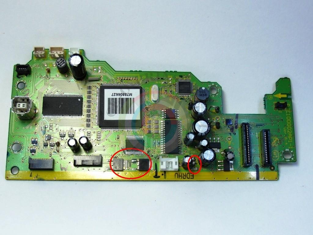 Транзисторы C6017 и A2169 и предохранители F1 Epson TX117