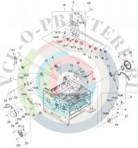 RK2-1488-000 Motor, DC (M1), main    RK2-1488-000 для HP моделей LaserJet P3005
