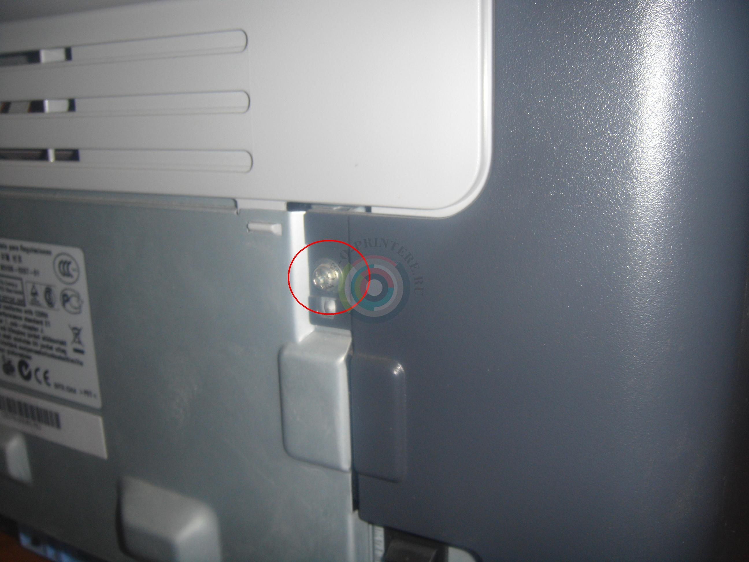 разборка принтера hp