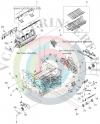 Тормозная площадка ручного лотка RL1-1524-000CN для HP LJ P2015/ P2014/ M2727 MFP/ LBP3310/ 3370