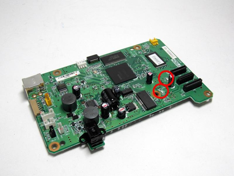 Предохранитель F1 и F2 в Epson Stylus CX3500