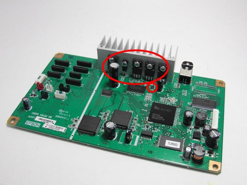 Предохранитель F2, транзисторы A2098, A2098 и C6082, C6082 Epson 1410